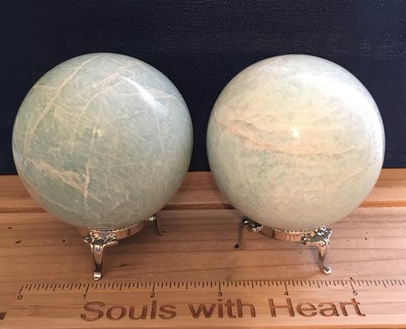 Amazonite Sphere, 70mm,healing Stone, Soothes Emotions, Energies Luck And Love, Healing Crystal, Chakra Stone, Spiritual Stone