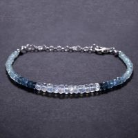 Aquamarine Bracelet, wedding Gift For Bride Bridesmaid, Christmas Gift For Her, Anniversary Gift, sterling Silver Gemstone Beaded Bracelet | Natural genuine Gemstone jewelry. Buy handcrafted artisan wedding jewelry.  Unique handmade bridal jewelry gift ideas. #jewelry #beadedjewelry #gift #crystaljewelry #shopping #handmadejewelry #wedding #bridal #jewelry #affiliate #ad