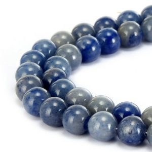 "Shop Aventurine Round Beads! Blue Aventurine Smooth Round Beads 4mm 6mm 8mm 10mm 15.5"" Strand 