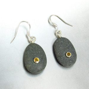 Shop Yellow Sapphire Earrings! Beachstone and Golden Yellow Sapphire Earrings | Natural genuine Yellow Sapphire earrings. Buy crystal jewelry, handmade handcrafted artisan jewelry for women.  Unique handmade gift ideas. #jewelry #beadedearrings #beadedjewelry #gift #shopping #handmadejewelry #fashion #style #product #earrings #affiliate #ad