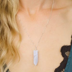 Shop Blue Lace Agate Necklaces! Blue lace agate necklace. Long blue lace agate crystal necklace. Natural lilac blue lace agate gemstone necklace. Blue boho crystal necklace | Natural genuine Blue Lace Agate necklaces. Buy crystal jewelry, handmade handcrafted artisan jewelry for women.  Unique handmade gift ideas. #jewelry #beadednecklaces #beadedjewelry #gift #shopping #handmadejewelry #fashion #style #product #necklaces #affiliate #ad