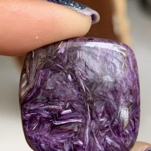 Shop Charoite Bead Shapes! Top quality charoite square flat back cabochan,natural finest quality charoite cabs,24/24mm | Natural genuine other-shape Charoite beads for beading and jewelry making.  #jewelry #beads #beadedjewelry #diyjewelry #jewelrymaking #beadstore #beading #affiliate #ad
