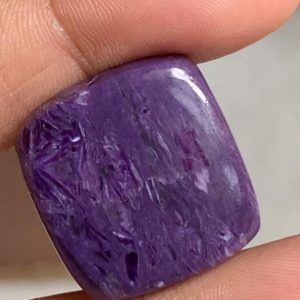 Shop Charoite Beads! Top Quality Charoite Square Flat Back Cabochan, natural Finest Quality Charoite Cabs, 20 / 22mm | Natural genuine beads Charoite beads for beading and jewelry making.  #jewelry #beads #beadedjewelry #diyjewelry #jewelrymaking #beadstore #beading #affiliate #ad