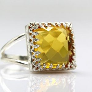 Shop Citrine Rings! Citrine ring,November birthstone,silver ring,silver gemstone ring,semiprecious ring,personalized family ring | Natural genuine Citrine rings, simple unique handcrafted gemstone rings. #rings #jewelry #shopping #gift #handmade #fashion #style #affiliate #ad