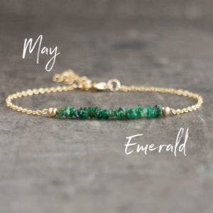 Shop Emerald Bracelets! Green Emerald Bracelet, May Birthstone Jewelry, Bridesmaid Gifts, Raw Crystal Jewelry Gifts For Her | Natural genuine Emerald bracelets. Buy crystal jewelry, handmade handcrafted artisan jewelry for women.  Unique handmade gift ideas. #jewelry #beadedbracelets #beadedjewelry #gift #shopping #handmadejewelry #fashion #style #product #bracelets #affiliate #ad