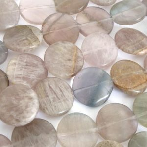 Shop Fluorite Bead Shapes! 16mm Fluorite Coin Beads, 16mm Drilled Lengthwise Coin Shaped Fluorite, Natural Gemstone Beads, Purple Beads, Fluo208 | Natural genuine other-shape Fluorite beads for beading and jewelry making.  #jewelry #beads #beadedjewelry #diyjewelry #jewelrymaking #beadstore #beading #affiliate #ad