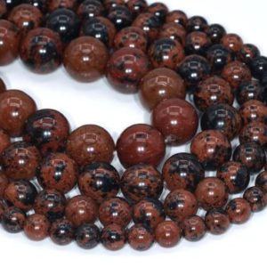Genuine Natural Mahogany Obsidian Loose Beads Round Shape 6-7mm 8mm 12mm 15mm | Natural genuine beads Mahogany Obsidian beads for beading and jewelry making.  #jewelry #beads #beadedjewelry #diyjewelry #jewelrymaking #beadstore #beading #affiliate #ad