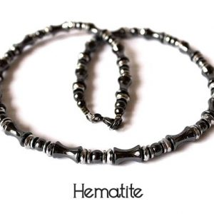 Shop Hematite Necklaces! Hematite Necklace, Grey and Silver Hematite Necklace, Hematite Choker, Grey Bead Necklace, Hematite Jewelry, Men's Hematite Choker Necklace | Natural genuine Hematite necklaces. Buy crystal jewelry, handmade handcrafted artisan jewelry for women.  Unique handmade gift ideas. #jewelry #beadednecklaces #beadedjewelry #gift #shopping #handmadejewelry #fashion #style #product #necklaces #affiliate #ad