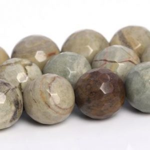 Shop Jasper Faceted Beads! Silver Leaf Jasper Beads Grade AAA Genuine Natural Gemstone Micro Faceted Round Loose Beads 5-6MM 8MM 9-10MM 11-12MM Bulk Lot Options | Natural genuine faceted Jasper beads for beading and jewelry making.  #jewelry #beads #beadedjewelry #diyjewelry #jewelrymaking #beadstore #beading #affiliate #ad