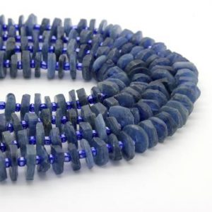 Shop Kyanite Chip & Nugget Beads! Kyanite, Natural Kyanite Raw Chips Nuggets Rough Cut Irregular Shape Loose Gemstone Beads | Natural genuine chip Kyanite beads for beading and jewelry making.  #jewelry #beads #beadedjewelry #diyjewelry #jewelrymaking #beadstore #beading #affiliate #ad