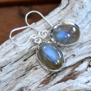 Shop Labradorite Earrings! Blue Fire Labradorite Earrings | Natural genuine Labradorite earrings. Buy crystal jewelry, handmade handcrafted artisan jewelry for women.  Unique handmade gift ideas. #jewelry #beadedearrings #beadedjewelry #gift #shopping #handmadejewelry #fashion #style #product #earrings #affiliate #ad