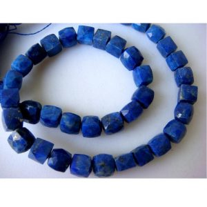 5-6mm Lapis Lazuli Faceted Box Beads, Lapis Lazuli Cubes, Lapis Lazuli For Necklace, Lapis Lazuli Box Beads (4IN To 8IN Options) -LLBC | Natural genuine beads Array beads for beading and jewelry making.  #jewelry #beads #beadedjewelry #diyjewelry #jewelrymaking #beadstore #beading #affiliate #ad