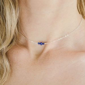 Shop Lapis Lazuli Necklaces! Lapis lazuli minimal choker. Lapis lazuli choker. Chain thin choker. Necklace choker thin. Thin necklace choker. September birthstone. | Natural genuine Lapis Lazuli necklaces. Buy crystal jewelry, handmade handcrafted artisan jewelry for women.  Unique handmade gift ideas. #jewelry #beadednecklaces #beadedjewelry #gift #shopping #handmadejewelry #fashion #style #product #necklaces #affiliate #ad
