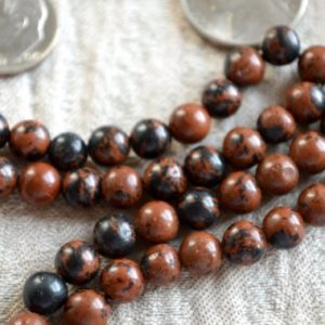 Shop Mahogany Obsidian Necklaces! Mahogany Obsidian crystal beaded necklace men mens necklace for men burgundy gemstone mala bead necklace birthday anniversary gifts for mom | Natural genuine Mahogany Obsidian necklaces. Buy handcrafted artisan men's jewelry, gifts for men.  Unique handmade mens fashion accessories. #jewelry #beadednecklaces #beadedjewelry #shopping #gift #handmadejewelry #necklaces #affiliate #ad