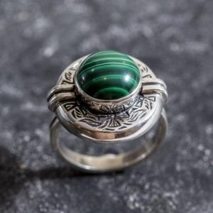 Shop Malachite Rings! Malachite Ring, Natural Malachite, Egyptian Ring, Tribal Ring, Vintage Malachite Ring, Malachite, Vinage Silver Ring, Tribal Silver Ring | Natural genuine Malachite rings, simple unique handcrafted gemstone rings. #rings #jewelry #shopping #gift #handmade #fashion #style #affiliate #ad