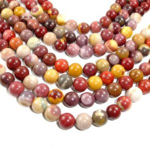 Shop Mookaite Beads! Mookaite Beads Round, 10 Mm, 15.5 Inch, Full Strand, Approx 38 Beads, Hole 1 Mm (320054003) | Natural genuine round Mookaite beads for beading and jewelry making.  #jewelry #beads #beadedjewelry #diyjewelry #jewelrymaking #beadstore #beading #affiliate #ad