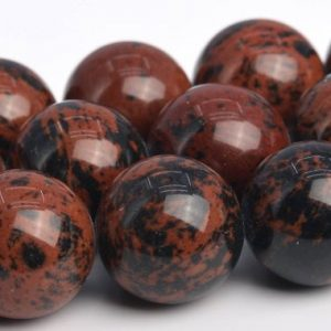 "Shop Obsidian Round Beads! 15MM Mahogany Obsidian Beads Grade AAA Genuine Natural Gemstone Full Strand Round Loose Beads 15"" BULK LOT 1,3,5,10 and 50 (103597-987) 