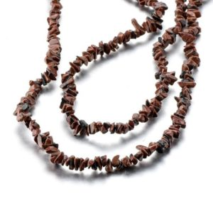 Shop Mahogany Obsidian Beads! One Strand Mahogany Obsidian Chips Nuggets Gemstone Bead 4mm | Natural genuine chip Mahogany Obsidian beads for beading and jewelry making.  #jewelry #beads #beadedjewelry #diyjewelry #jewelrymaking #beadstore #beading #affiliate #ad