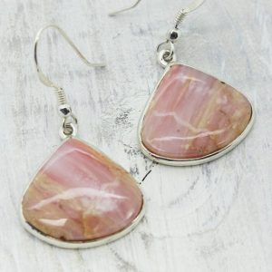 Shop Opal Earrings! Pink Opal earrings,Andean opal,Opal jewelry,pink opal stone,sterling silver opal jewelry,genuine Peruvian pink opal,Statement jewelry | Natural genuine Opal earrings. Buy crystal jewelry, handmade handcrafted artisan jewelry for women.  Unique handmade gift ideas. #jewelry #beadedearrings #beadedjewelry #gift #shopping #handmadejewelry #fashion #style #product #earrings #affiliate #ad