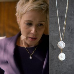 "Single Coin Pearl Pendant Necklace, Organic Freshwater Pearl Jewellery, Bridal Necklace – As Seen On ""how To Get Away With Murder"" 