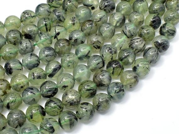 Prehnite Beads, 10mm Round Beads, 15.5 Inch, Full Strand, Approx 39 Beads, Hole 1mm (265054009)