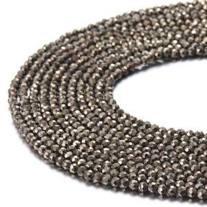 Shop Pyrite Faceted Beads! Nice Pyrite Gemstone Faceted Round Loose Beads Size 2mm/3mm/6mm/8mm 15.5 Inches per Strand.GEM-171120-57 | Natural genuine faceted Pyrite beads for beading and jewelry making.  #jewelry #beads #beadedjewelry #diyjewelry #jewelrymaking #beadstore #beading #affiliate #ad