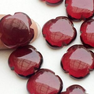 Shop Quartz Cabochons! 15mm Red Hydro Quartz Fancy Floral Cabochons, Red Hydro Quartz Clover Shape For Jewelry, Ruby Colored Hydro Quartz (3Pcs To 6Pcs Options) | Natural genuine stones & crystals in various shapes & sizes. Buy raw cut, tumbled, or polished gemstones for making jewelry or crystal healing energy vibration raising reiki stones. #crystals #gemstones #crystalhealing #crystalsandgemstones #energyhealing #affiliate #ad