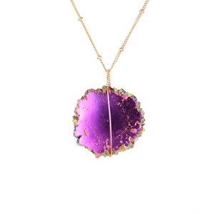 Shop Quartz Crystal Necklaces! Purple Aura Crystal Necklace – Stalactite Necklace – Solar Quartz Necklace – Rare Crystal Necklace – Gold Filled Satellite Necklace | Natural genuine Quartz necklaces. Buy crystal jewelry, handmade handcrafted artisan jewelry for women.  Unique handmade gift ideas. #jewelry #beadednecklaces #beadedjewelry #gift #shopping #handmadejewelry #fashion #style #product #necklaces #affiliate #ad