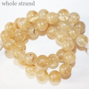 "Shop Quartz Crystal Round Beads! Quartz  Beads – Round 10 mm Gemstone Beads – Full Strand 15 1/2"", 38 beads, A Quality 