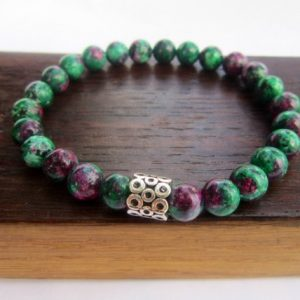 Shop Ruby Zoisite Bracelets! Ruby in Zoisite Bracelet Ruby in Zoisite Sahasrara Bracelet Rubyin Zoisite Charm Chakra Bracelet Anyolite Detoxifying Regeneration Bracelet | Natural genuine Ruby Zoisite bracelets. Buy crystal jewelry, handmade handcrafted artisan jewelry for women.  Unique handmade gift ideas. #jewelry #beadedbracelets #beadedjewelry #gift #shopping #handmadejewelry #fashion #style #product #bracelets #affiliate #ad