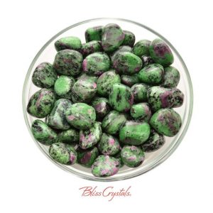 1 RUBY in ZOISITE Tumbled Stone aka Anoylite #RZ02 | Natural genuine stones & crystals in various shapes & sizes. Buy raw cut, tumbled, or polished gemstones for making jewelry or crystal healing energy vibration raising reiki stones. #crystals #gemstones #crystalhealing #crystalsandgemstones #energyhealing #affiliate #ad