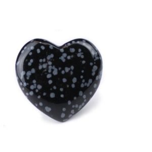 Snowflake Obsidian Heart Shaped Carved Stone | Natural genuine stones & crystals in various shapes & sizes. Buy raw cut, tumbled, or polished gemstones for making jewelry or crystal healing energy vibration raising reiki stones. #crystals #gemstones #crystalhealing #crystalsandgemstones #energyhealing #affiliate #ad
