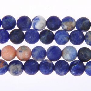 "Orange Sodalite Matte Round Beads 6mm 8mm 10mm 12mm 15.5"" Strand 