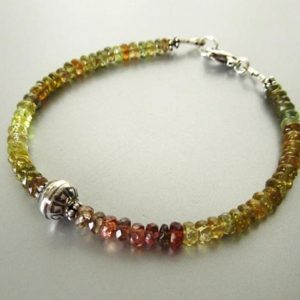 Shop Yellow Sapphire Bracelets! Songea Sapphire Bracelet – Sterling Silver – Green, Yellow, Mauve | Natural genuine Yellow Sapphire bracelets. Buy crystal jewelry, handmade handcrafted artisan jewelry for women.  Unique handmade gift ideas. #jewelry #beadedbracelets #beadedjewelry #gift #shopping #handmadejewelry #fashion #style #product #bracelets #affiliate #ad