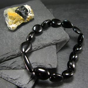 Shop Spinel Bracelets! Black Spinel Genuine Bracelet ~ 7 Inches  ~ 10mm Tumbled Beads | Natural genuine Spinel bracelets. Buy crystal jewelry, handmade handcrafted artisan jewelry for women.  Unique handmade gift ideas. #jewelry #beadedbracelets #beadedjewelry #gift #shopping #handmadejewelry #fashion #style #product #bracelets #affiliate #ad