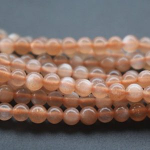 4mm AA Sunstone Beads,Natural Smooth and Round Sunstone Beads,15 inches one starand | Natural genuine round Sunstone beads for beading and jewelry making.  #jewelry #beads #beadedjewelry #diyjewelry #jewelrymaking #beadstore #beading #affiliate #ad