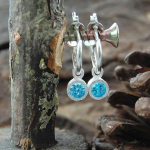 Shop Topaz Earrings! Blue Topaz Hoops, Silver Hoop Earrings, 925 Earrings, Topaz Drops, Silver Gemstone Hoops, Blue Gemstone, Gift For Her, November Birthstone | Natural genuine Topaz earrings. Buy crystal jewelry, handmade handcrafted artisan jewelry for women.  Unique handmade gift ideas. #jewelry #beadedearrings #beadedjewelry #gift #shopping #handmadejewelry #fashion #style #product #earrings #affiliate #ad