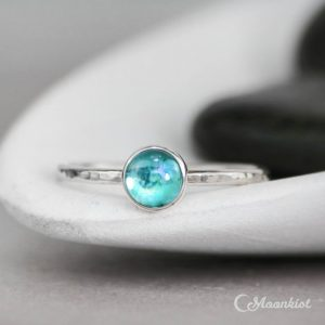 Shop Topaz Rings! Blue Topaz Promise Ring – Sterling Silver Blue Gemstone Ring – Blue Topaz Stacking Ring – Simple Ring – Blue Stone Stack Ring – Gift For Her | Natural genuine Topaz rings, simple unique handcrafted gemstone rings. #rings #jewelry #shopping #gift #handmade #fashion #style #affiliate #ad