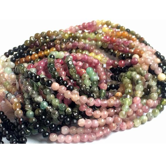 Multi Tourmaline Beads - Multi Tourmaline Plain Rondelle Beads, 2.5mm Multi Tourmaline Beads, 15 Inch Strand, Tourmaline Gemstone