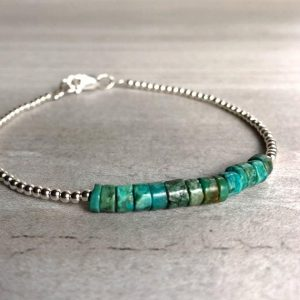 Real Turquoise Bracelet | Gold Or Sterling Silver Genuine Turquoise Jewelry | Tiny Bead Bracelet | Healing Crystal Jewelry | Natural genuine Turquoise bracelets. Buy crystal jewelry, handmade handcrafted artisan jewelry for women.  Unique handmade gift ideas. #jewelry #beadedbracelets #beadedjewelry #gift #shopping #handmadejewelry #fashion #style #product #bracelets #affiliate #ad