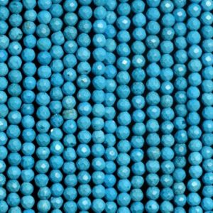 Shop Turquoise Faceted Beads! 158 Pcs – 2MM Queen Turquoise Beads Grade AAA Faceted Round Gemstone Loose Beads (107159) | Natural genuine faceted Turquoise beads for beading and jewelry making.  #jewelry #beads #beadedjewelry #diyjewelry #jewelrymaking #beadstore #beading #affiliate #ad