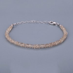 Shop Zircon Bracelets! Champagne Color Zircon Bracelet Silver Chain Adjustable Bracelet Party Wear Bracelet. | Natural genuine Zircon bracelets. Buy crystal jewelry, handmade handcrafted artisan jewelry for women.  Unique handmade gift ideas. #jewelry #beadedbracelets #beadedjewelry #gift #shopping #handmadejewelry #fashion #style #product #bracelets #affiliate #ad