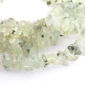 "Shop Agate Chip & Nugget Beads! Moss Agate Chip Beads, 34"" Strand Moss Agate Chip Beads, Green And White Chip Beads, 3mm To 6mm Chip Beads,  Aga234 