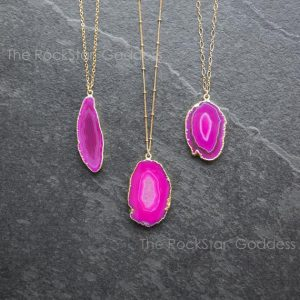 Druzy Necklace / Agate Necklace / Pink Agate Necklace / Crystal Necklace / Agate Jewelry | Natural genuine Agate necklaces. Buy crystal jewelry, handmade handcrafted artisan jewelry for women.  Unique handmade gift ideas. #jewelry #beadednecklaces #beadedjewelry #gift #shopping #handmadejewelry #fashion #style #product #necklaces #affiliate #ad