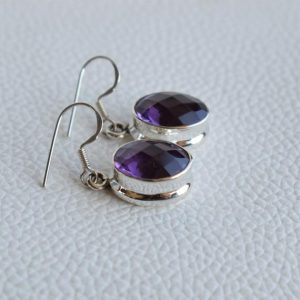 Shop Amethyst Earrings! Natural Amethyst Earrings-Handmade Silver Earrings-925 Sterling Silver Earrings-Gift for her-February Birthstone-Dangle Drop Earrings | Natural genuine Amethyst earrings. Buy crystal jewelry, handmade handcrafted artisan jewelry for women.  Unique handmade gift ideas. #jewelry #beadedearrings #beadedjewelry #gift #shopping #handmadejewelry #fashion #style #product #earrings #affiliate #ad