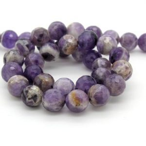 Shop Amethyst Faceted Beads! Natural LAvender Amethyst Faceted Round Ball Sphere Loose Gemstone Beads | Natural genuine faceted Amethyst beads for beading and jewelry making.  #jewelry #beads #beadedjewelry #diyjewelry #jewelrymaking #beadstore #beading #affiliate #ad