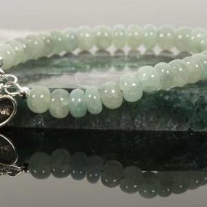 Shop Aquamarine Bracelets! Genuine Aquamarine Bracelet, March Birthstone Handmade Jewelry, Sterling Silver Hart Angel Charm, Handmade Gemstone Jewelry | Natural genuine Aquamarine bracelets. Buy crystal jewelry, handmade handcrafted artisan jewelry for women.  Unique handmade gift ideas. #jewelry #beadedbracelets #beadedjewelry #gift #shopping #handmadejewelry #fashion #style #product #bracelets #affiliate #ad