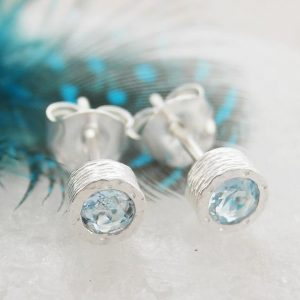 Shop Aquamarine Earrings! Aquamarine Earrings, Small Stud Earrings, Silver Studs, Precious Gemstone Studs, March Birthstone Earrings, Silver Gemstone Stud Earring | Natural genuine Aquamarine earrings. Buy crystal jewelry, handmade handcrafted artisan jewelry for women.  Unique handmade gift ideas. #jewelry #beadedearrings #beadedjewelry #gift #shopping #handmadejewelry #fashion #style #product #earrings #affiliate #ad