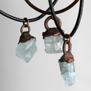 Shop Aquamarine Necklaces! Birthstone Necklace – Leather Choker – Raw Crystal Necklace – Personalized Jewelry – Layering Necklace – Raw Birthstone Jewelry | Natural genuine Aquamarine necklaces. Buy crystal jewelry, handmade handcrafted artisan jewelry for women.  Unique handmade gift ideas. #jewelry #beadednecklaces #beadedjewelry #gift #shopping #handmadejewelry #fashion #style #product #necklaces #affiliate #ad
