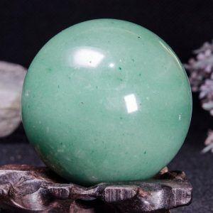 "Shop Aventurine Shapes! 2.2""natural Aventurine Sphere / green Aventurine Ball / crystal Healing / calm / comfort / metaphysical Energy / special Gift / chakra-55mm-236g#4619 